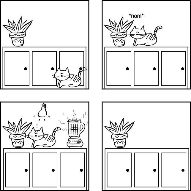 Воспитание котов (6 фото + 4 флешки)