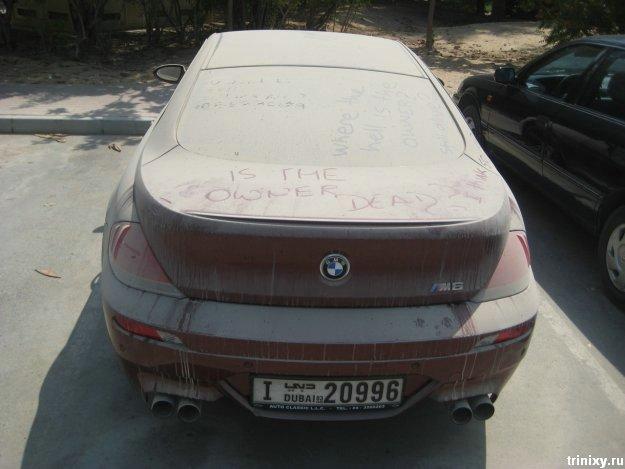 Заброшенный BMW M6 в Дубаи (8 фото)