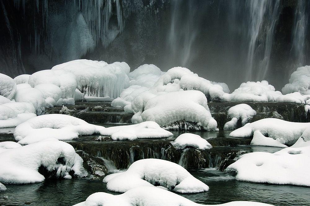 Плитвицкие озера зимой.