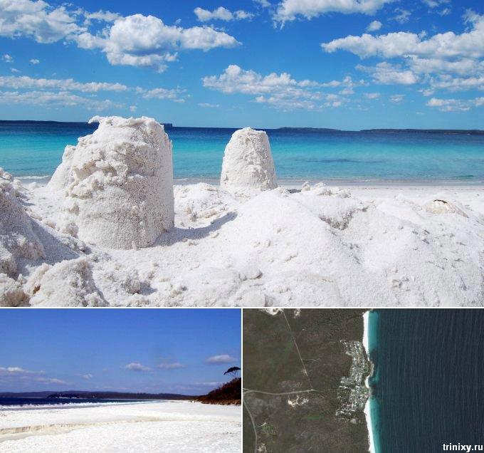 Пляжи с самым необычным песком (5 пляжей, 15 фото)