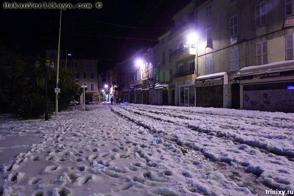 Снег на Лазурном берегу (15 фото)