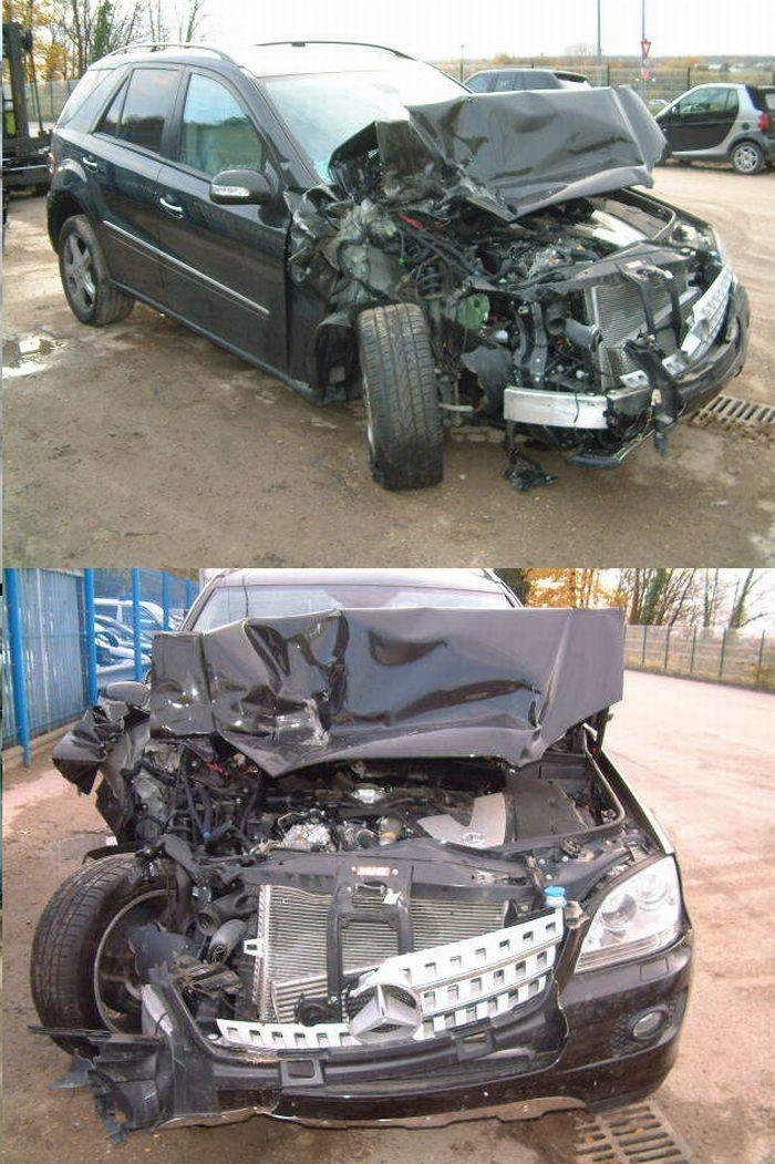 Очень жесткие фото разбитых машин…