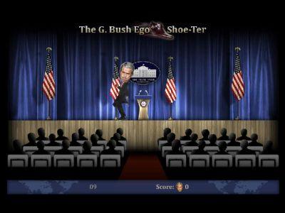 Кидаем в Буша ботинком flash игра