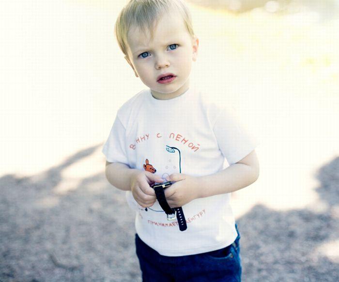 Детские прикольные футболки (45 фото)