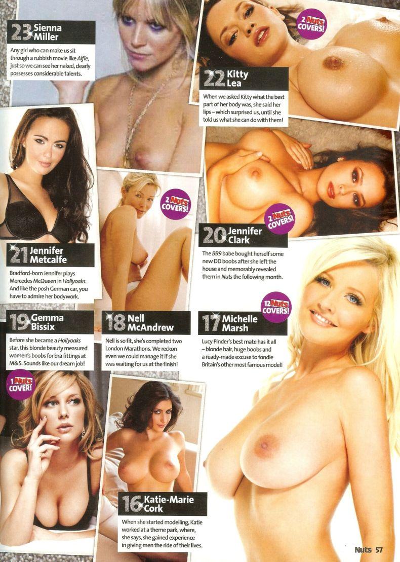 100 самых сексуальных девушек по версии журнала Nuts (14 сканов) НЮ