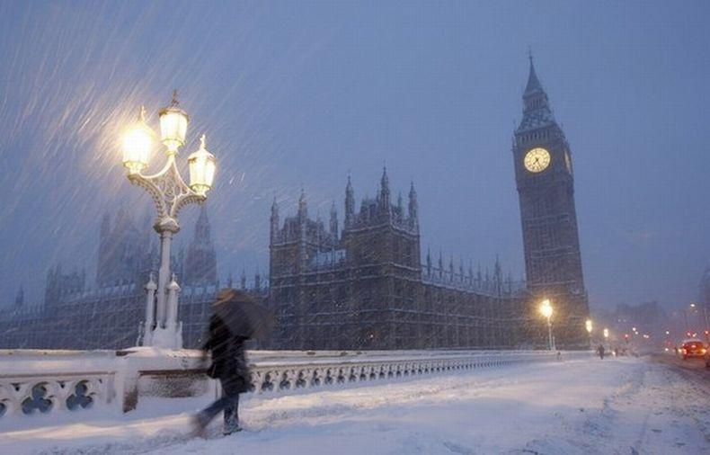фото снег в лондоне будем