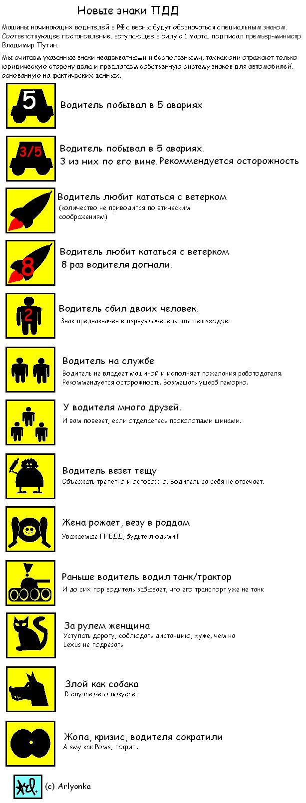 Новые дорожные знаки (13 фото)