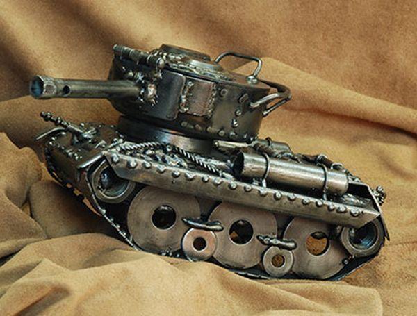 жителям иркутской картинки самодельного танка поделка из металла инструмент