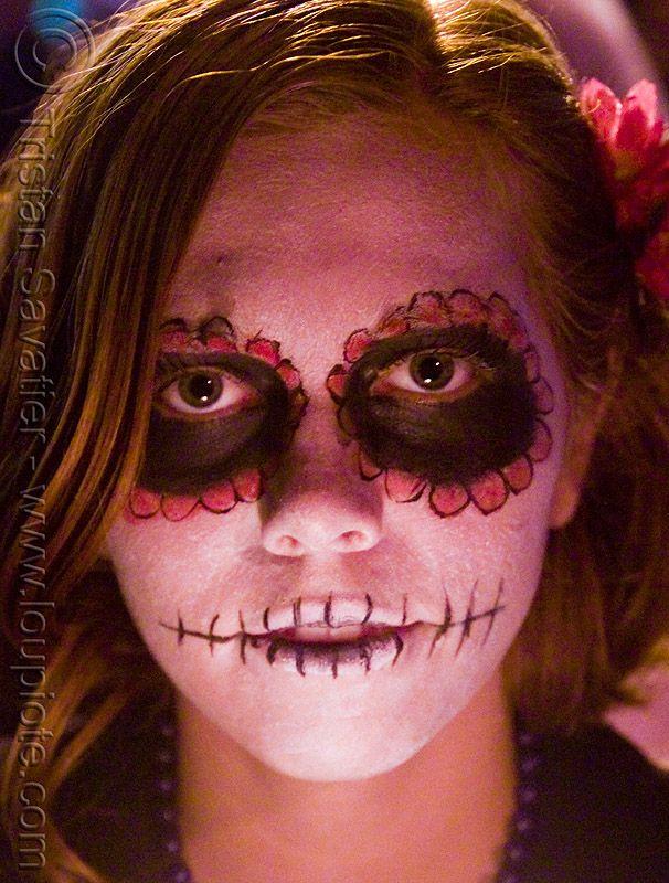 Раскраски на хэллоуин на лице для девочек - 2