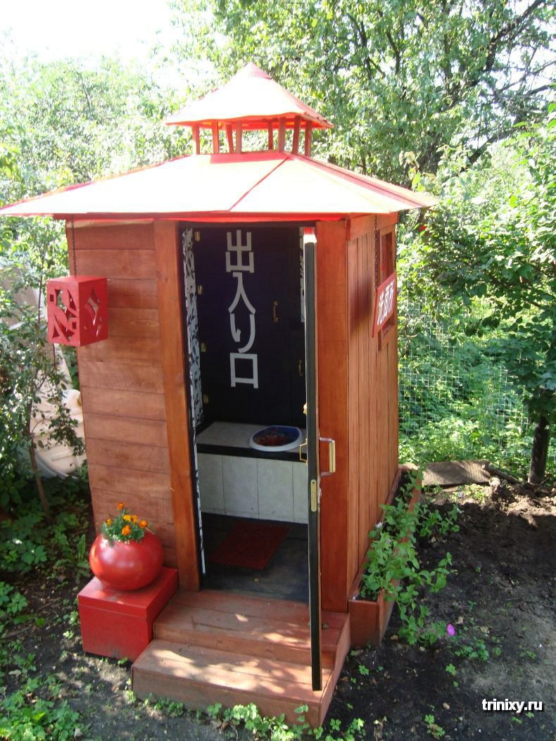 Построить туалет на даче фото