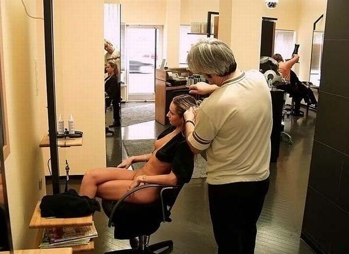 Удивительная парикмахерская (31 фото) НЮ