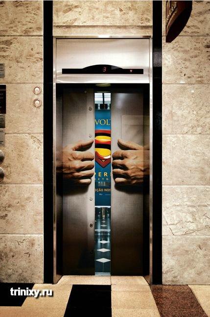 Реклама на лифтах (34 фото)