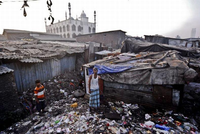 Трущобы Бомбея (44 фото)