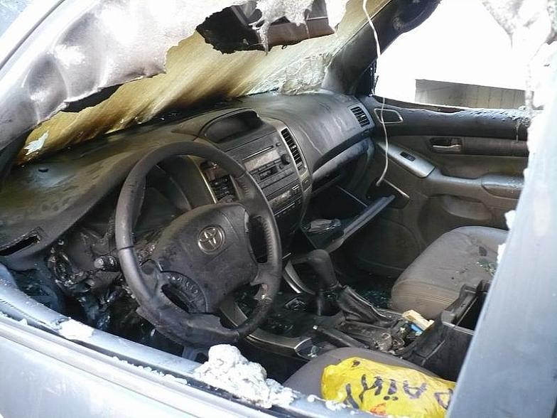Вчера ночью в Киеве сгорел Toyota - Land Cruiser (13 фото)