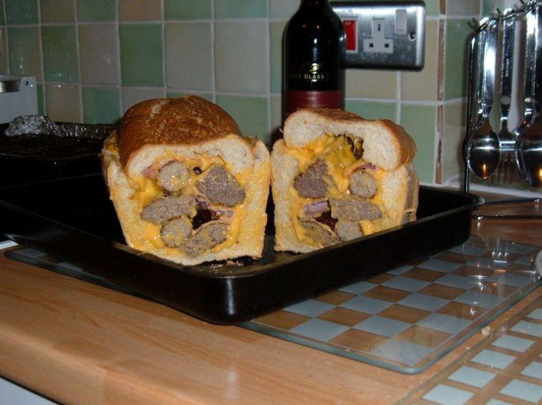 Что такое сытный бутерброд (3 фото)