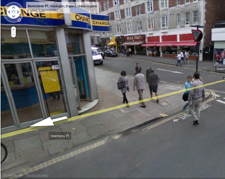 Симпатичная девушка из Лондона на картах Гугла (7 фото)