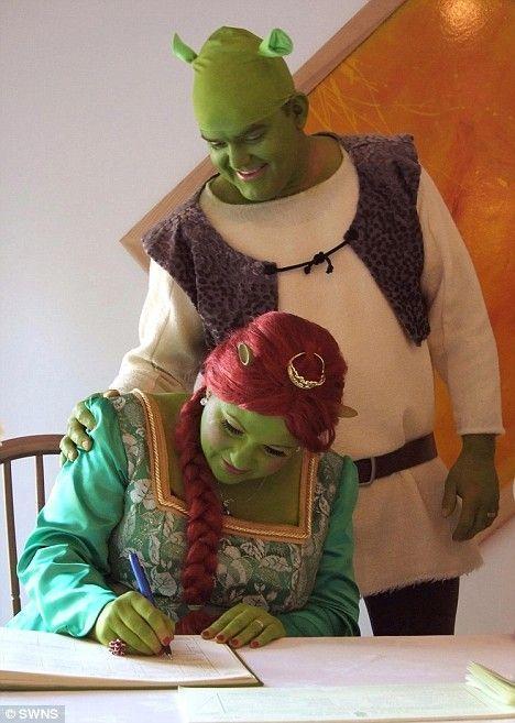 Шрек и Фиона женятся (5 фото)