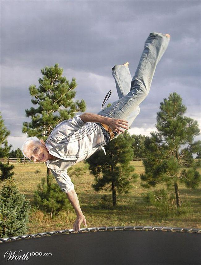 Позитивня фотожаба. Старички и спорт (51 картинка)