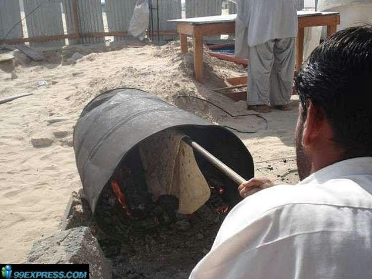 Как делают лаваш в странах Средней Азии (18 фото)