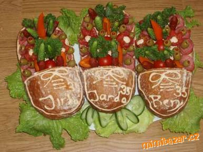 Вот такие бутерброды делают в Чехии (4 фото)