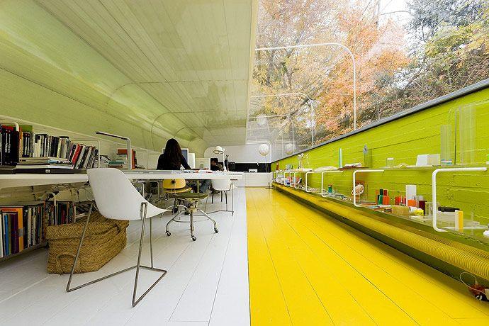 Офис в лесу (16 фото)