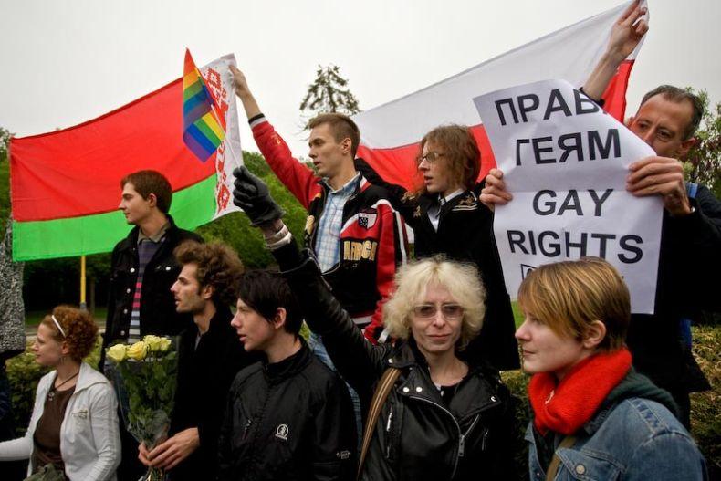 Parada gejów 2009 w Moskwie - zdjęcia