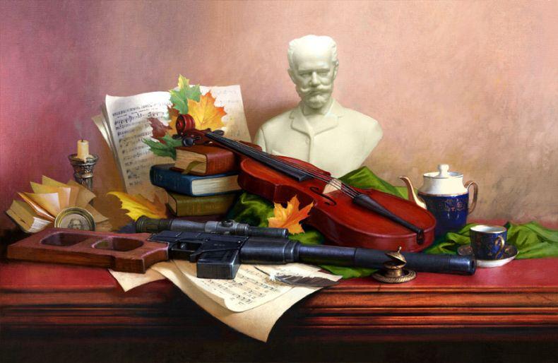 Рисунки с оружием (12 картинок)