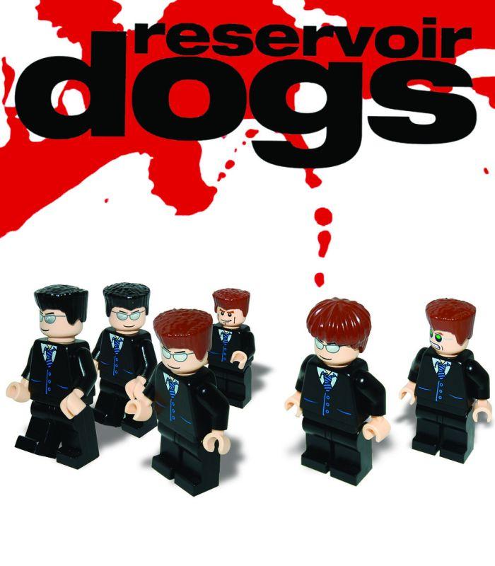 Plakat filmowy z klocków Lego Wściekłe Psy - Reservoir dogs (Lego movie poster)