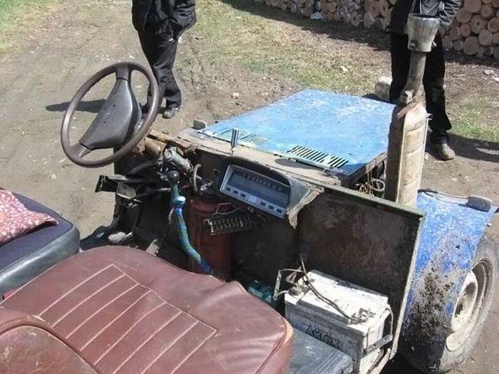 Трактор самоделки своими руками фото