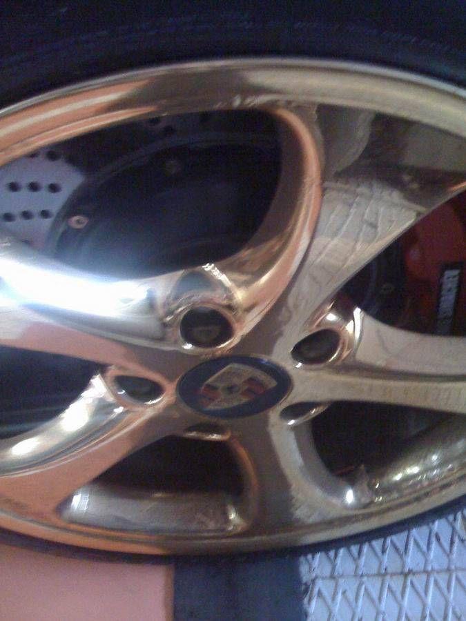 Золотой Porsche. Теперь в деталях (19 фото)