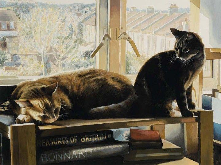 Рисованные коты (20 картинок)