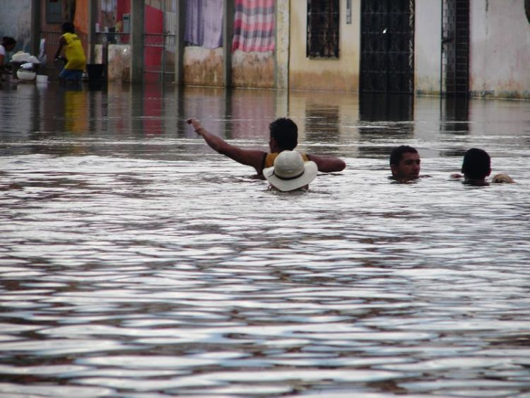 Наводнение в Бразилии (25 фото)