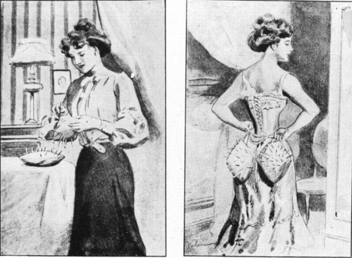 Как защищались женщины от мужчин в 1901 году (3 картинки)