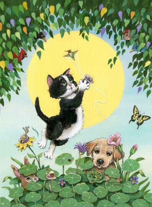 Прикольные коты (38 картинок)
