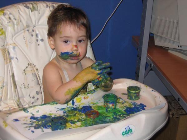 Дети и краска
