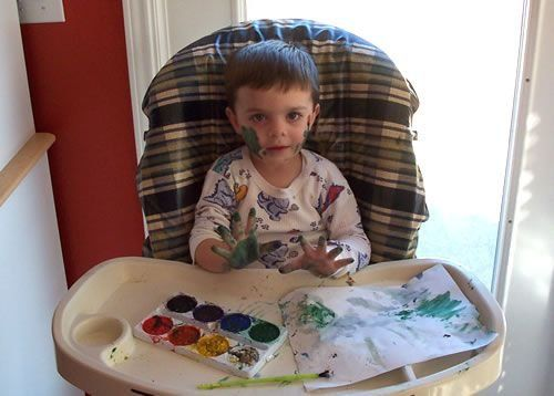 Дети и краска (14 фото)