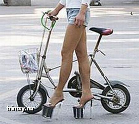 Высокий каблук + обтягивающие шорты + длинные ноги = ? (6 фото)