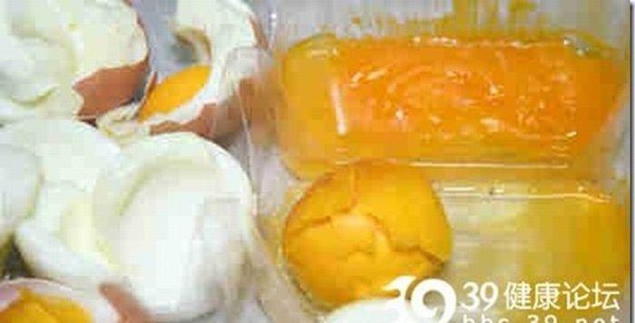 Только в Китае: поддельные куриные яйца (9 фото)