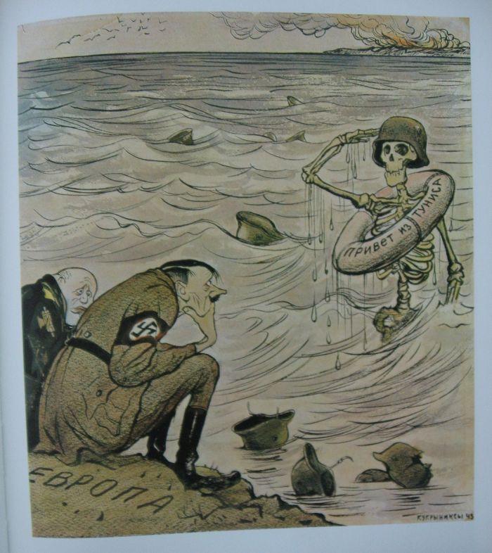 La caida del Imperio Nazi , en posters y revistas de la epoc