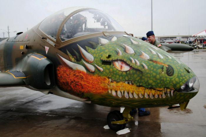 Рисунки на самолетах (22 фото)