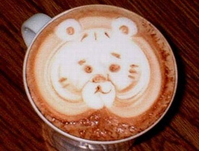 Красивые рисунки на кофе (50 фото)