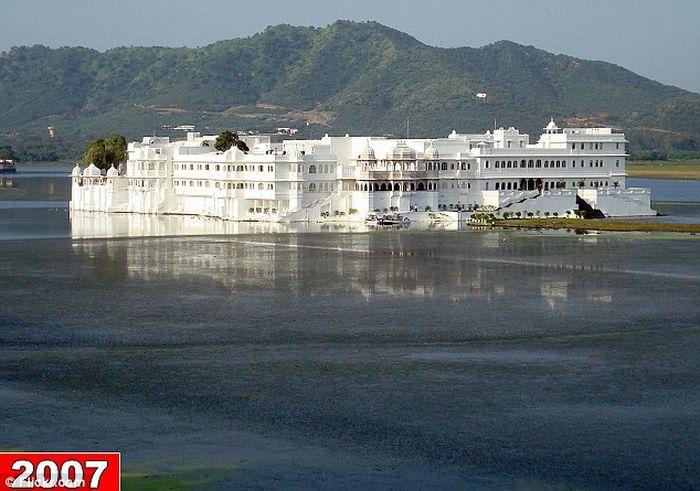 Гостиница, которая потеряла свое озеро (4 фото)