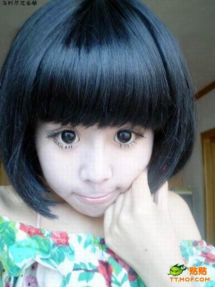 Японская девушка с огромными глазами (7 фото)