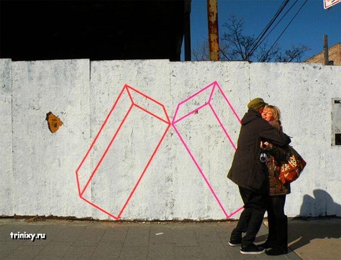Очень неплохие уличные рисунки (11 фото)