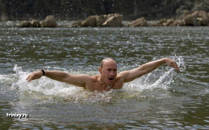 Путин в Республике Тыва (16 фото)