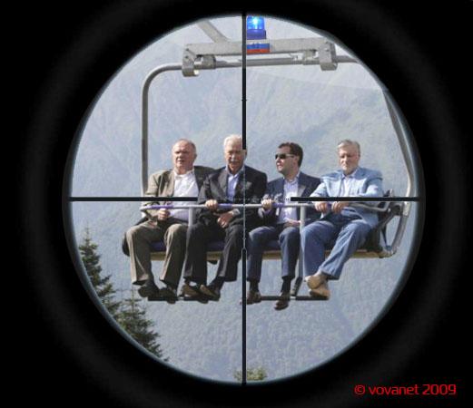 Классная фотожаба. Политики на подъемнике (27 картинок)
