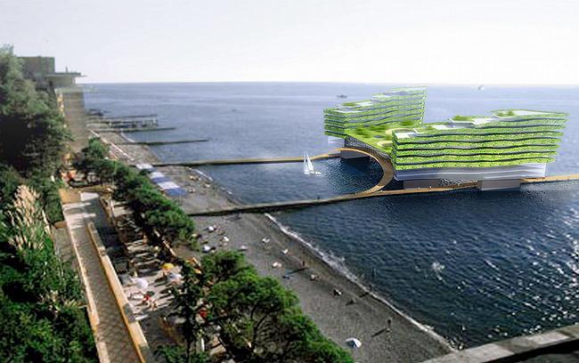 Острова. Концептуальные предложения по освоению акватории г. Сочи (6 фото)