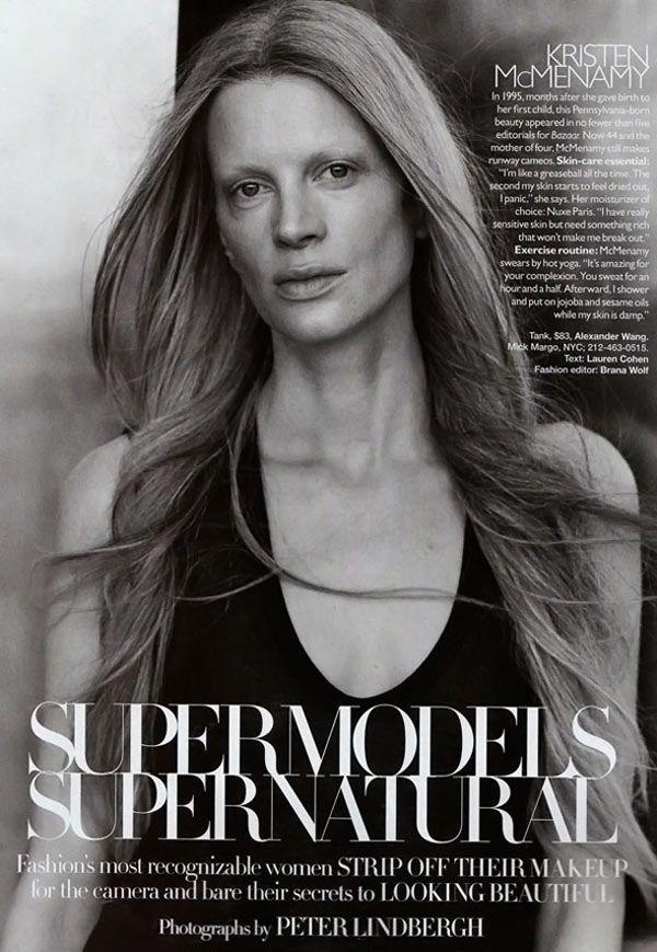 Супермодели без косметики (8 фото)
