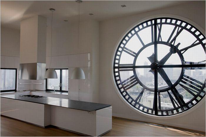Квартира с часами в Нью Йорке (13 фото)
