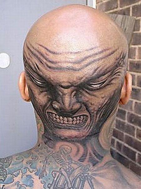 Татуировки на лысинах (25 фото)